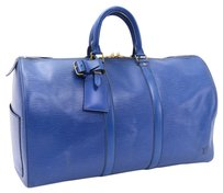 Louis Vuitton Vintage Keepall blue Travel Bag