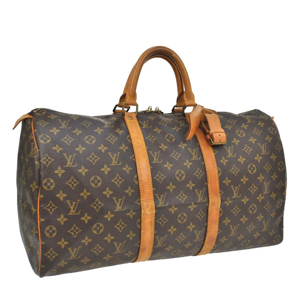 louis vuitton 50 carry all travel hand luggage duffle monogram travel bag on sale 90 off. Black Bedroom Furniture Sets. Home Design Ideas