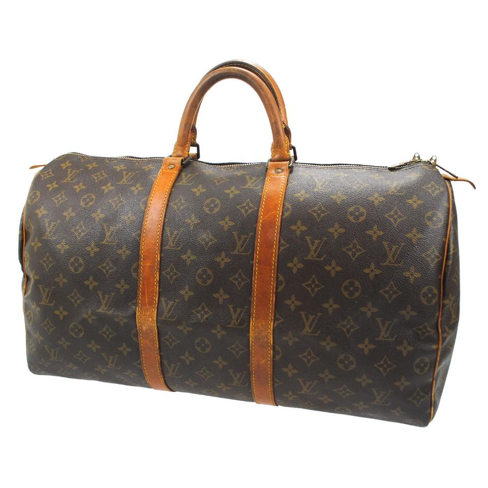 louis vuitton keepall 55 monogram travel bag on sale 61 off weekend travel bags on sale. Black Bedroom Furniture Sets. Home Design Ideas