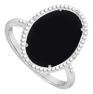 LoveBrightJewelry Sterling Silver Black Onyx and Cubic Zirconia Ring 15.08 CT TGW