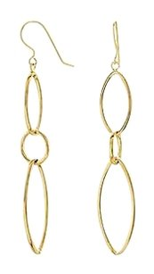 LoveBrightJewelry 14K Yellow Gold Clad Sterling Silver Earrings