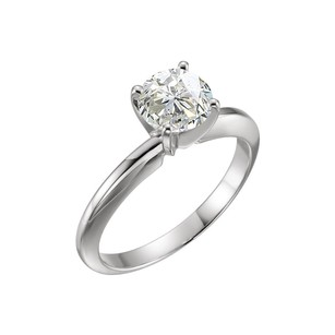 LoveBrightJewelry 1.55 Carat Certified Diamond Solitaire Engagement Ring in Platinum