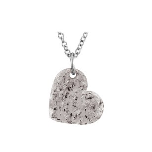 LoveBrightJewelry 16X14 925 Silver Hand Crafted Hammered Heart Pendant