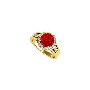 LoveBrightJewelry Wonderful Jewelry Gift Ruby And Cz Ring 2.25 Tgw