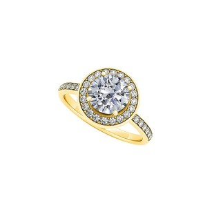 LoveBrightJewelry Amazing Gifting Idea Cubic Zirconia Ring In 18k Yellow Gold Vermeil Affordable Price Offer