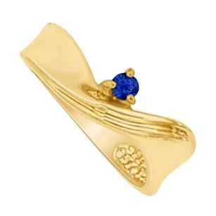 LoveBrightJewelry Amazingly Designed Sapphire Mother Ring in Yellow Gold