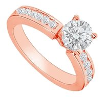 LoveBrightJewelry April Birthstone Cubic Zirconia Engagement Ring in 14K Rose Gold Vermeil 1 CT TGW