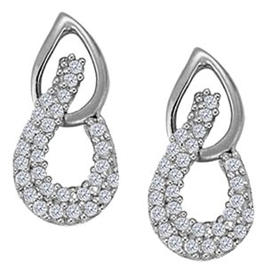 LoveBrightJewelry April Birthstone Cubic Zirconia Fancy Earrings in Sterling Silver 0.25 CT TGW