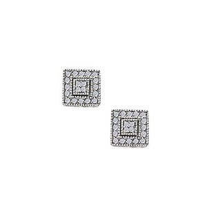 LoveBrightJewelry April Birthstone Cubic Zirconia Fashion Earrings In Two Tone Gold0.25 Ct Tgw