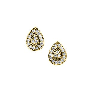 LoveBrightJewelry April Birthstone Cubic Zirconia Squarish Earrings In 14k Yellow Gold 0.50 Ct Tgw