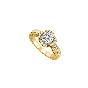LoveBrightJewelry April Birthstone Cubic Zirconia Yellow Gold Vermeil Filigree Engagement Ring In Unique Design