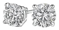LoveBrightJewelry April Birthstone Diamond Stud Earrings 14K White Gold