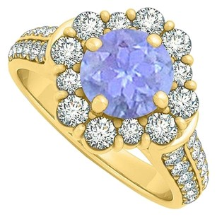 LoveBrightJewelry Beautiful jewelry Gift Tanzanite and CZ Ring 2.00 TGW