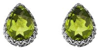 LoveBrightJewelry Bold Teardrop Peridot Earrings in 925 Sterling Silver
