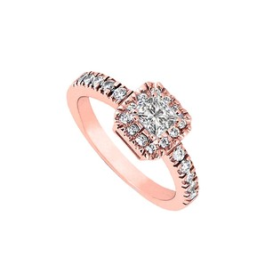 LoveBrightJewelry Conflict Free Diamond Engagement Ring 14k Rose Gold