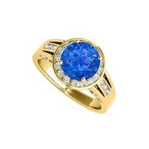 LoveBrightJewelry Coolest Jewelry Gift Sapphire And Cz Ring 2.25 Tgw