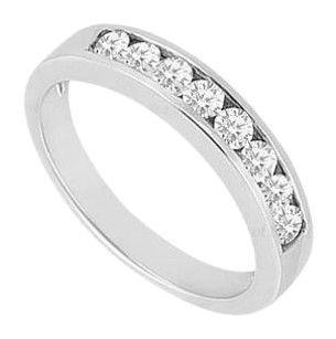 LoveBrightJewelry Cubic Zirconia Channel Set Wedding Band Sterling Silver 0.50 CT CZs