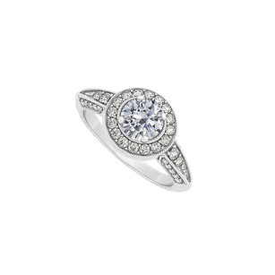 LoveBrightJewelry Cubic Zirconia Engagement Ring In 925 Sterling Silver