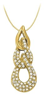 LoveBrightJewelry Cubic Zirconia Fashion Pendant in 18K Gold Vermeil 0.33 CT TGW,Jewelry Gift for Women