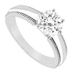 LoveBrightJewelry Cubic Zirconia Ring Sterling Silver 0.50 CT Cubic Zirconia