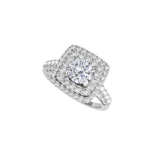 LoveBrightJewelry Cz Halo Design Engagement Ring In 925 Sterling Silver