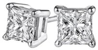 LoveBrightJewelry Diamond Stud Earrings in 14K White Gold with Push Back