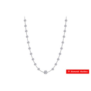 LoveBrightJewelry Diamonds By The Yard Necklace in 14K White Gold 5.00 CT TDW