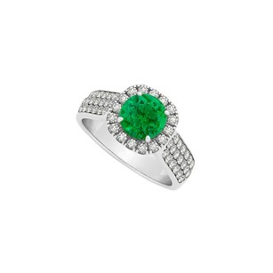 LoveBrightJewelry Emerald And Cubic Zirconia Ring Trendy Design Economical Price Cool Jewelry Gift For Women