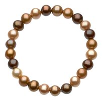 LoveBrightJewelry Freshwater Cultured Dyed Chocolate Pearl Bracelet 7 Inch/ 8 9 MM