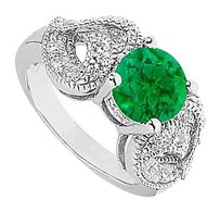 LoveBrightJewelry Green Simulated Emerald Ring 2.50 Carat Total gem Weight