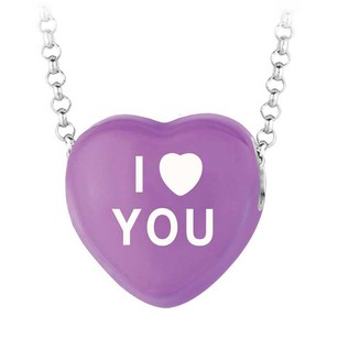 LoveBrightJewelry I Love You Purple Heart Pendant Necklace Sweethearts Collection Valentine Day