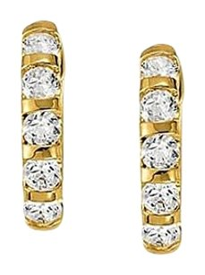LoveBrightJewelry Large Diamond Hoop Earrings for Women in Bar 0.5 CT TDW