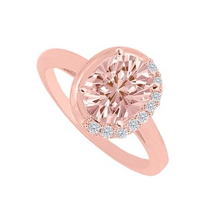 LoveBrightJewelry Latest Morganite And Cubic Zirconia Engagement Ring
