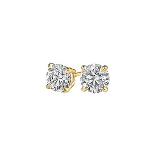 LoveBrightJewelry Natural Diamond Stud Earrings 14K Yellow Gold 0.25 CT TDW