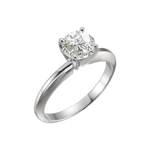 LoveBrightJewelry One Carat Certified Diamond Solitaire Engagement Ring in Platinum