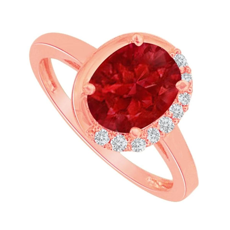 lovebrightjewelry oval pretty ruby and cz ring in 14k rose gold vermeil on sale 60 off. Black Bedroom Furniture Sets. Home Design Ideas