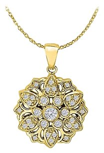 LoveBrightJewelry Precious and Pretty Diamond Pendant in 14K Yellow Gold