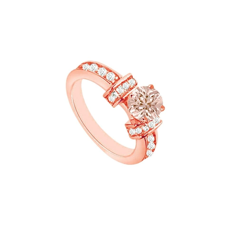Engagement Rings Sale Price: LoveBrightJewelry Prong Set Morganite And Cubic Zirconia