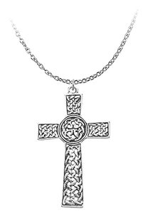 LoveBrightJewelry Religious Celtic Cross Pendant in 925 Sterling Silver