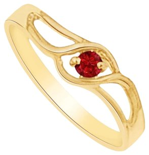 LoveBrightJewelry Royal Ruby Birthstone Mother Ring in Yellow Gold Vermeil Gift for Her