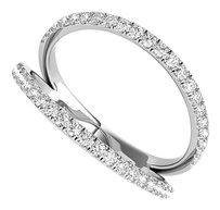 LoveBrightJewelry Simple and Unique Designer CZ Ring 925 Silver For Her