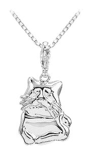 LoveBrightJewelry Sterling Silver Charming Animal Cat Charm Pendant