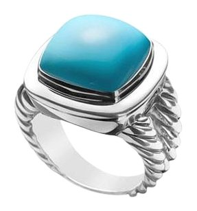 LoveBrightJewelry Turquoise Rope Ring 14K White Gold 10.00 CT TGW