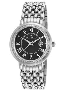 Lucien Piccard Lucien Piccard Women's Fantasia Stainless Steel Black Dial Crystal
