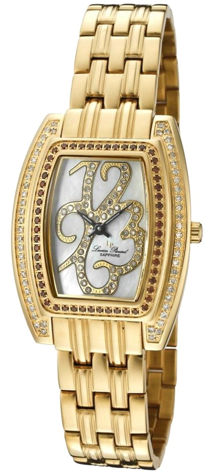 Lucien Piccard Style #: LP-26914YL White & Cognac Diamond Watch