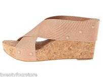 Lucky Brand Jeans Miller Wedge Cork Pink Platforms