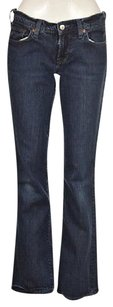 Lucky Brand Womens Blue Dark Wash 628 Cotton Pants Boot Cut Jeans