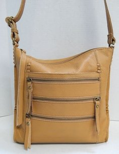 Lucky Brand Leather Zip Cross Body Bag