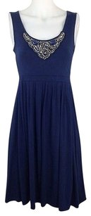 Lucy & Laurel short dress Blue Womens Navy on Tradesy