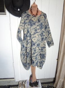 LuLu's Cabi New Orleans short dress BLUE FLORAL FLAX COTTON BLEND Super Cool Soft Print on Tradesy
